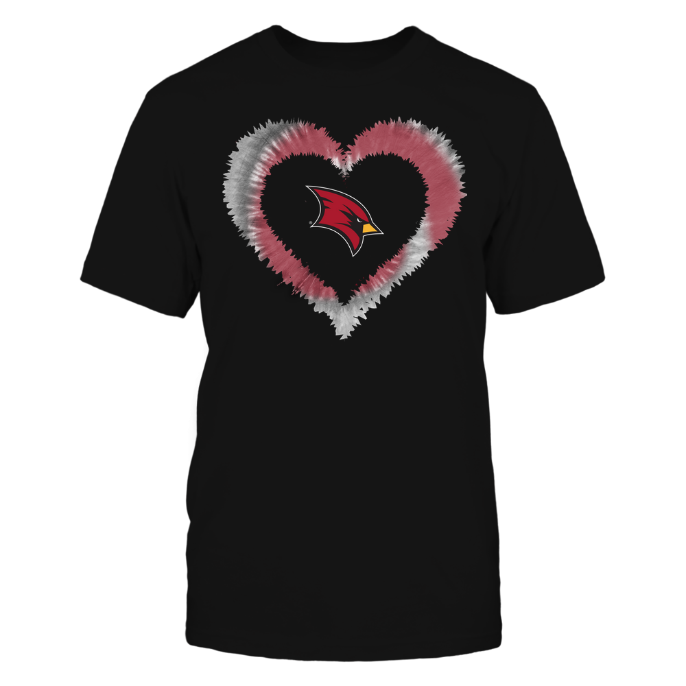 Saginaw Valley State Cardinals - Tie-Dye Heart Shape Front picture