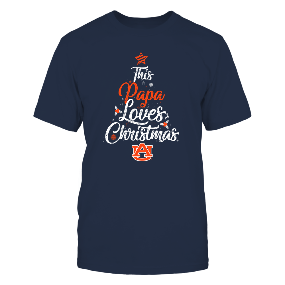 """Auburn Tigers - This """"Papa"""" Loves Christmas Front picture"""