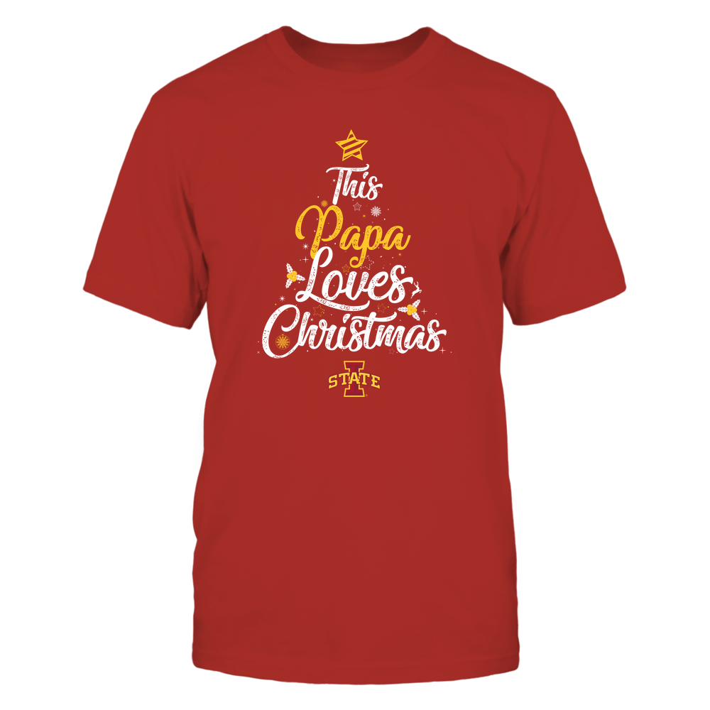"""Iowa State Cyclones - This """"Papa"""" Loves Christmas Front picture"""