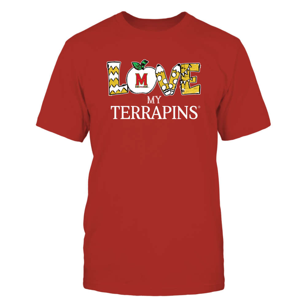 Maryland Terrapins - Love My Team - Hand Drawn Front picture