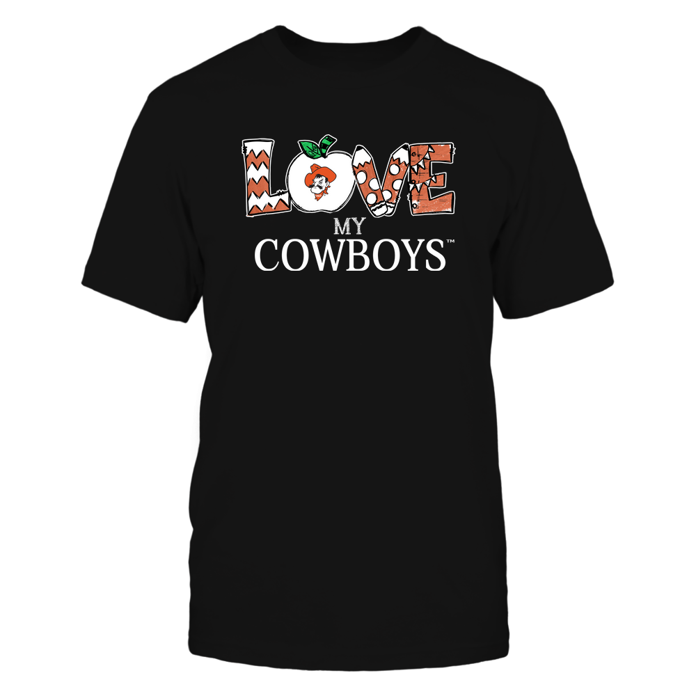 Oklahoma State Cowboys - Love My Team - Hand Drawn Front picture