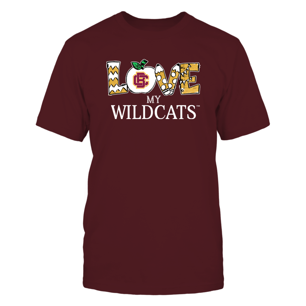 Bethune-Cookman Wildcats - Love My Team - Hand Drawn Front picture