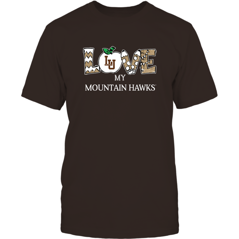 Lehigh Mountain Hawks - Love My Team - Hand Drawn Front picture