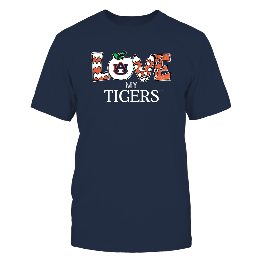 Auburn Tigers - Love My Team - Hand Drawn Front picture