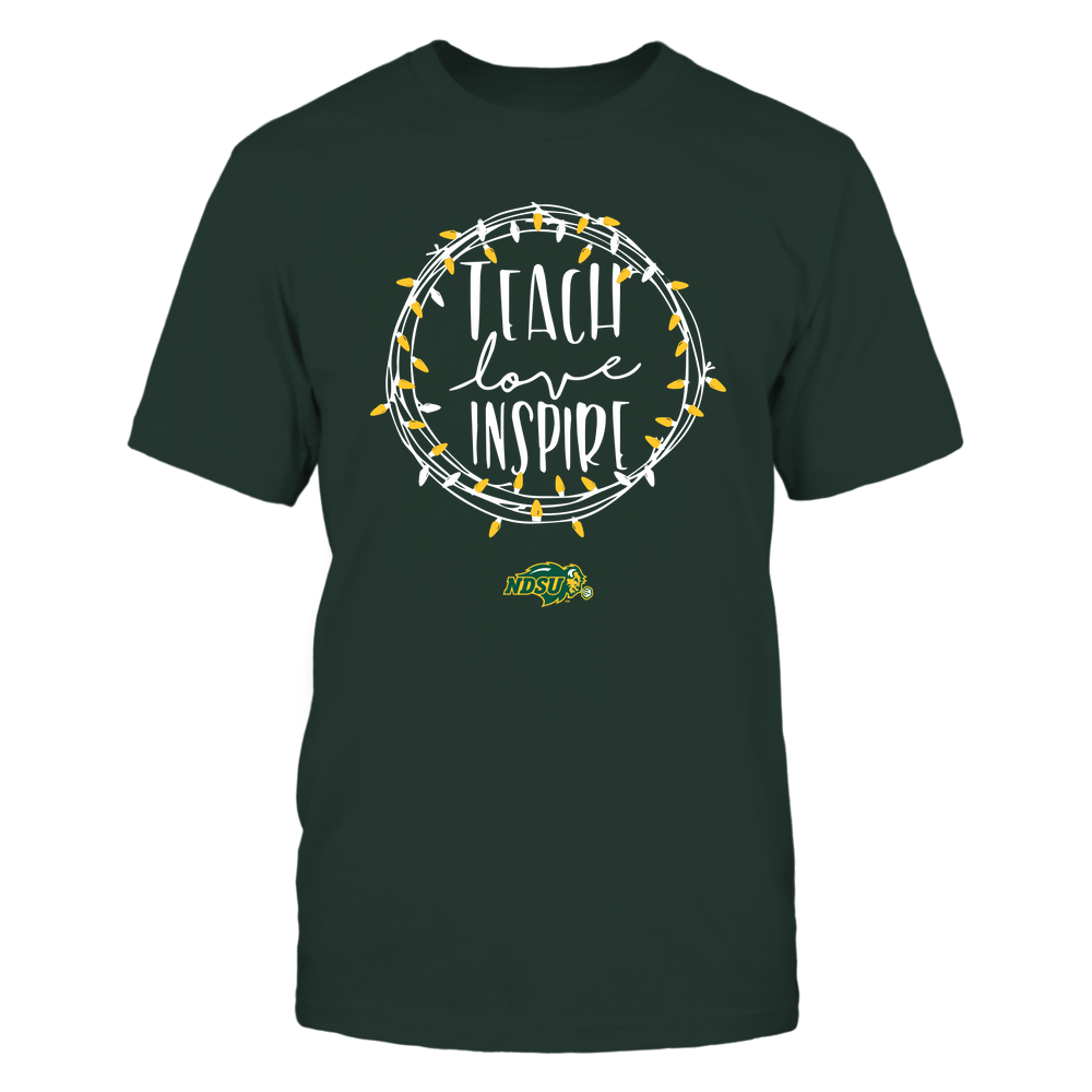 North Dakota State Bison - Holiday Season - Teach Love Inspire Front picture