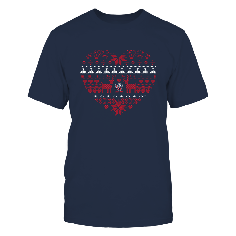Liberty Flames - Holiday Season - Ugly Sweater Pattern Heart Front picture