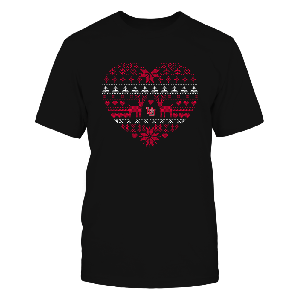 Utah Utes - Holiday Season - Ugly Sweater Pattern Heart Front picture