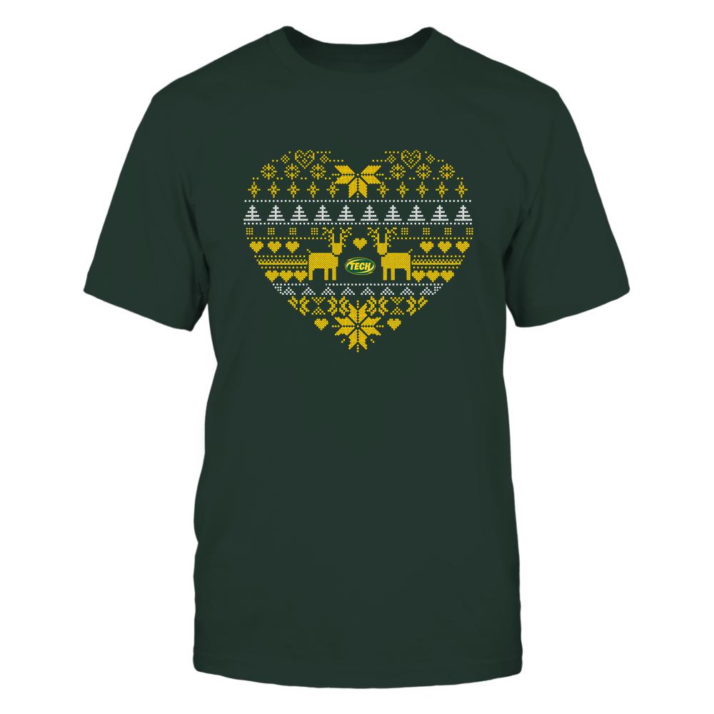 Arkansas Tech Golden Suns - Holiday Season - Ugly Sweater Pattern Heart Front picture