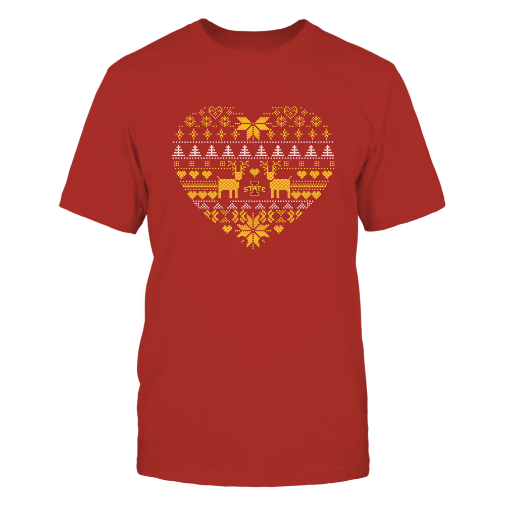 Iowa State Cyclones - Holiday Season - Ugly Sweater Pattern Heart Front picture