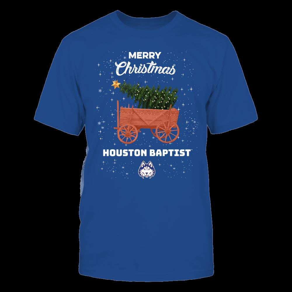Houston Baptist Huskies - Christmas Tree Cart Front picture