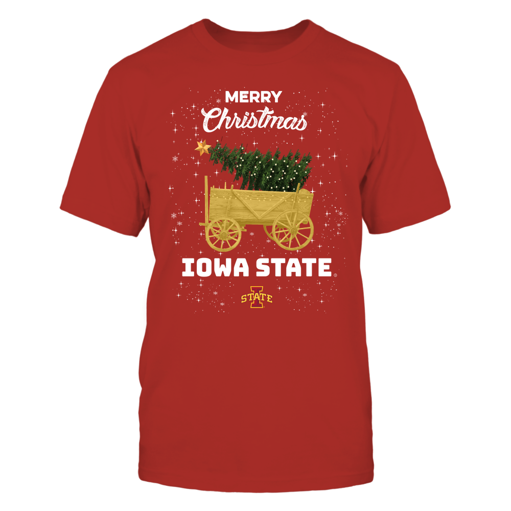 Iowa State Cyclones - Christmas Tree Cart Front picture