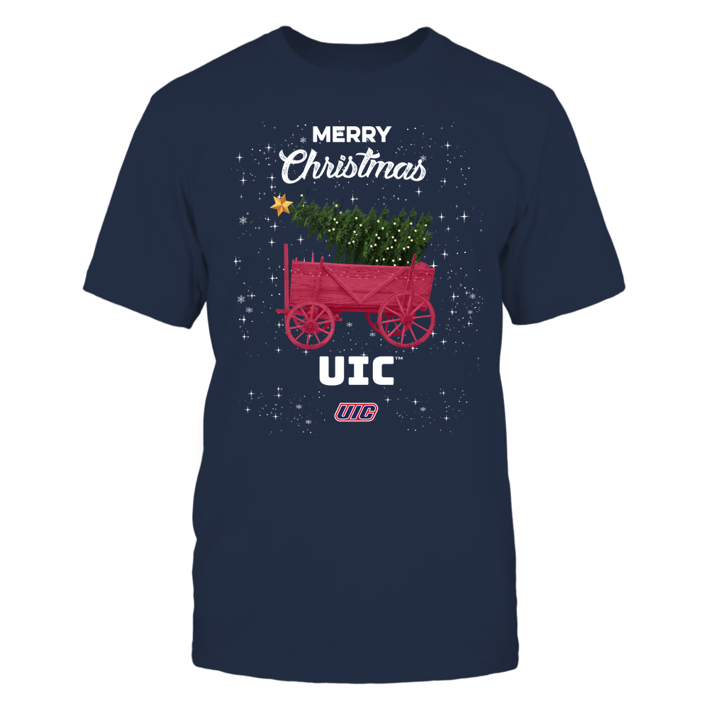 UIC Flames - Christmas Tree Cart Front picture
