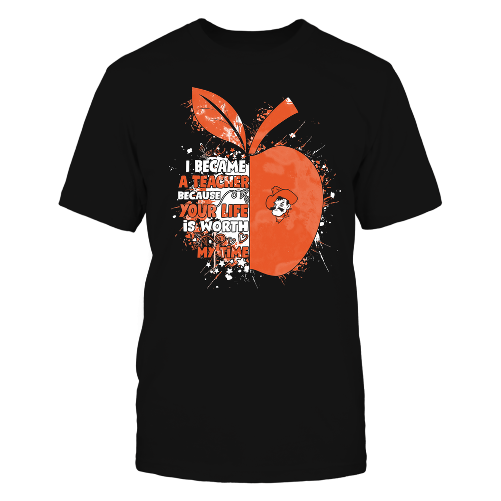 Oklahoma State Cowboys - Teacher - Became Color Drop - Half Apple Front picture