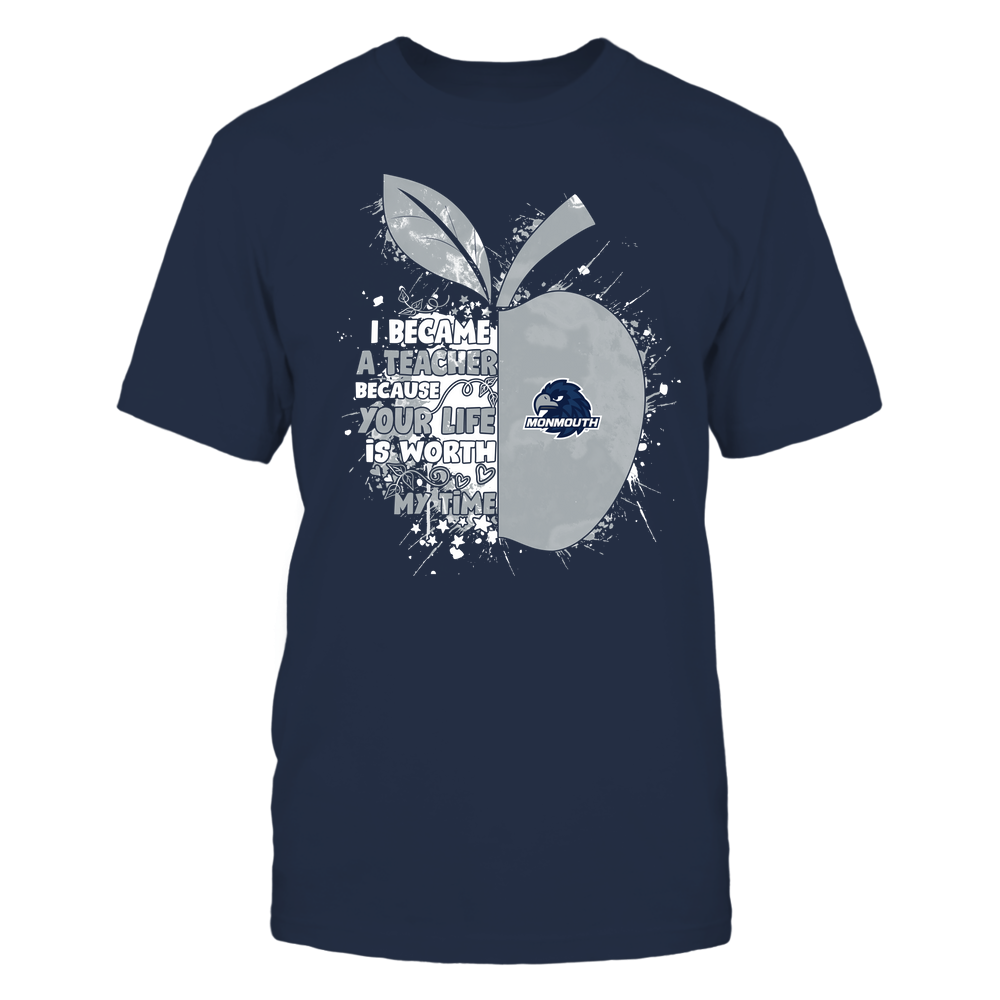 Monmouth Hawks - Teacher - Became Color Drop - Half Apple Front picture