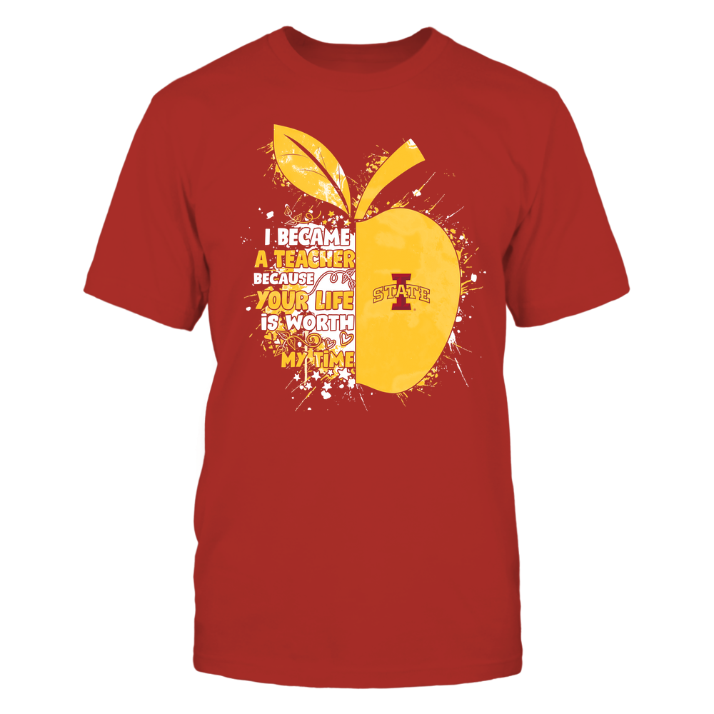 Iowa State Cyclones - Teacher - Became Color Drop - Half Apple Front picture