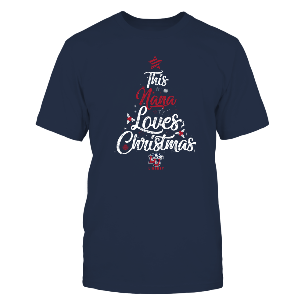 """Liberty Flames - This """"Nana"""" Loves Christmas Front picture"""