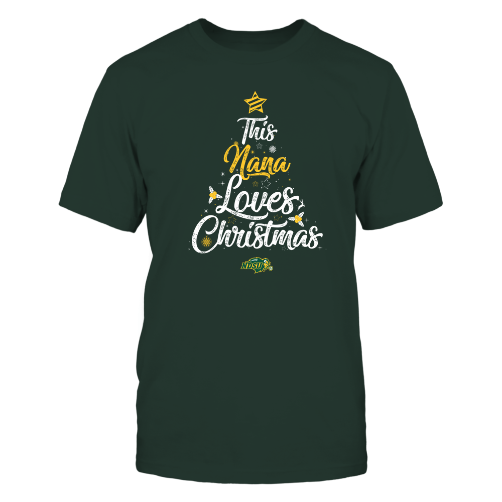 """North Dakota State Bison - This """"Nana"""" Loves Christmas Front picture"""