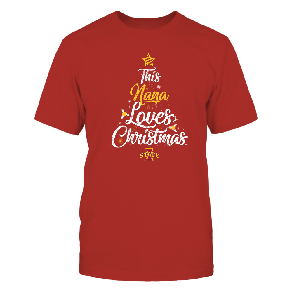 """Iowa State Cyclones - This """"Nana"""" Loves Christmas Front picture"""
