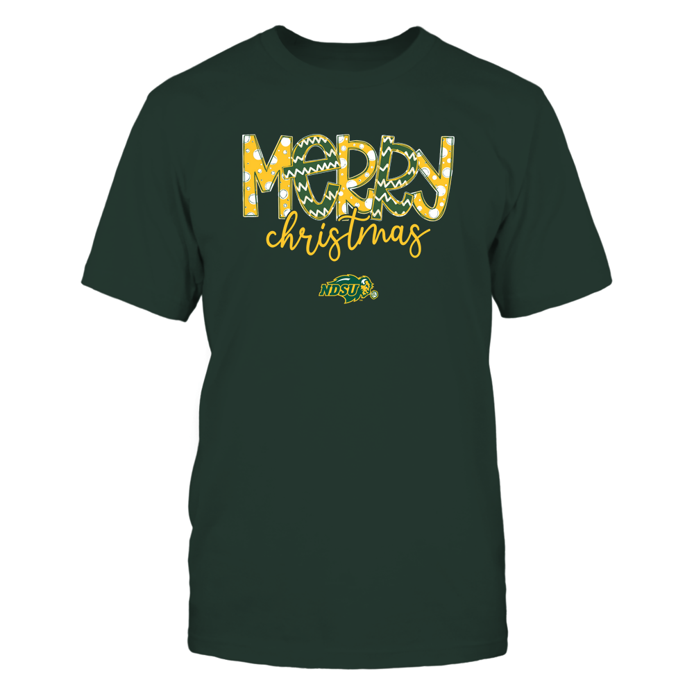 North Dakota State Bison - Merry Christmas Doodle Front picture