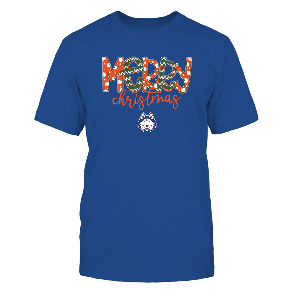 Houston Baptist Huskies - Merry Christmas Doodle Front picture
