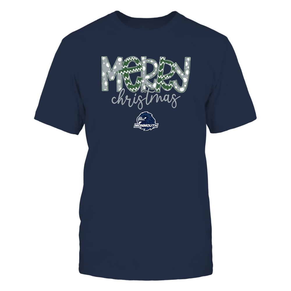 Monmouth Hawks - Merry Christmas Doodle Front picture