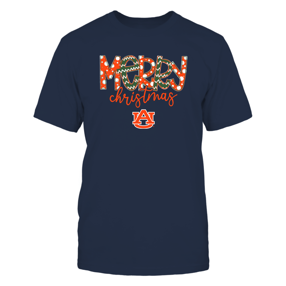 Auburn Tigers - Merry Christmas Doodle Front picture