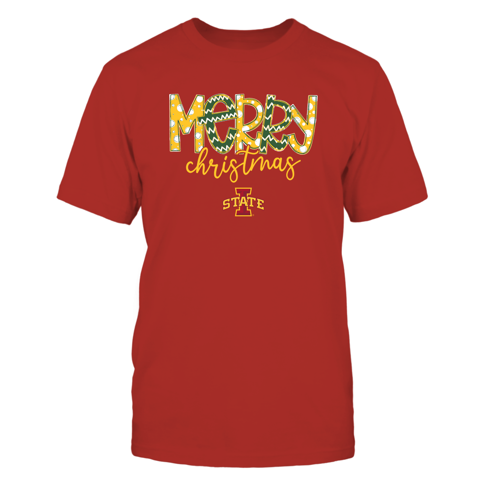 Iowa State Cyclones - Merry Christmas Doodle Front picture