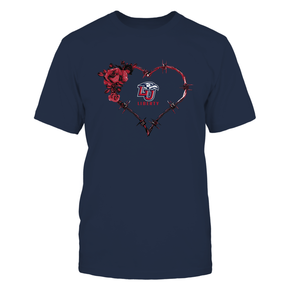 Liberty Flames - Bared Wire Heart Rose Front picture