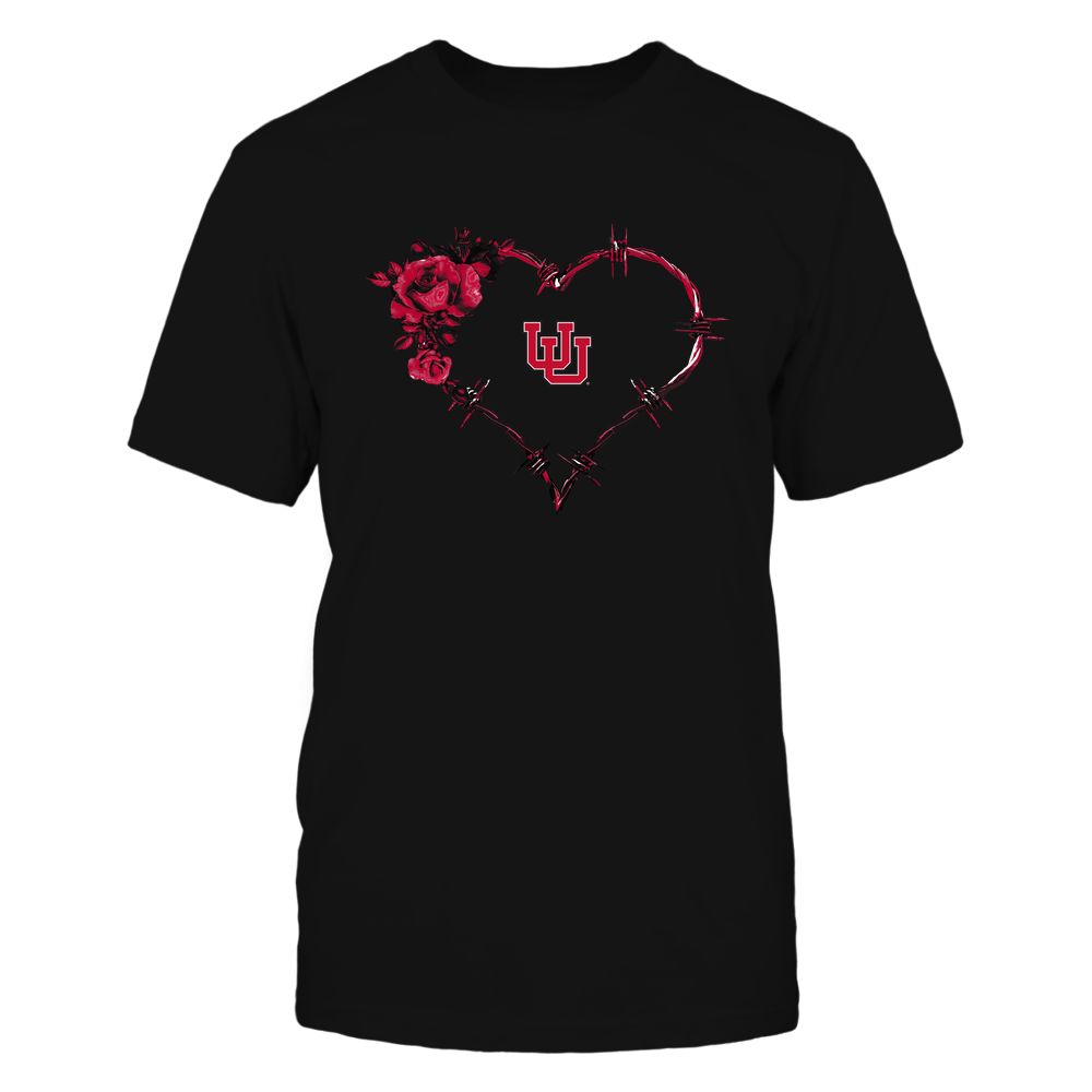 Utah Utes - Bared Wire Heart Rose Front picture