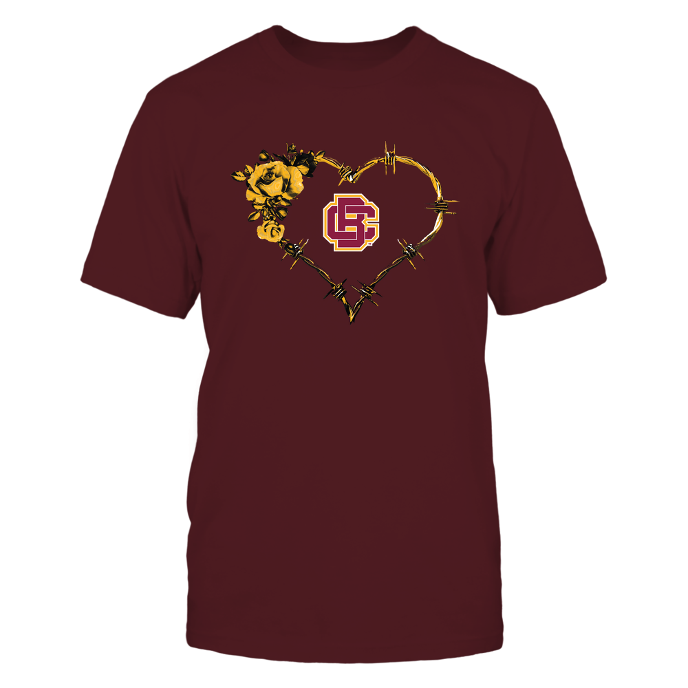 Bethune-Cookman Wildcats - Bared Wire Heart Rose Front picture