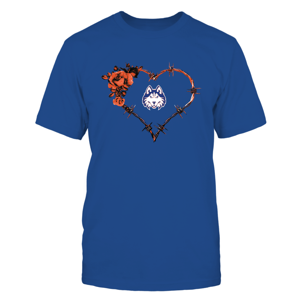 Houston Baptist Huskies - Bared Wire Heart Rose Front picture