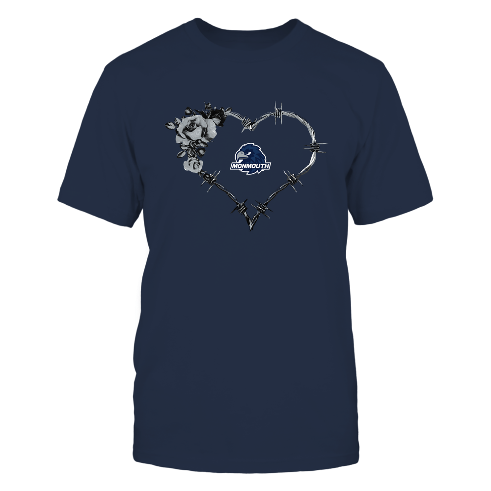 Monmouth Hawks - Bared Wire Heart Rose Front picture