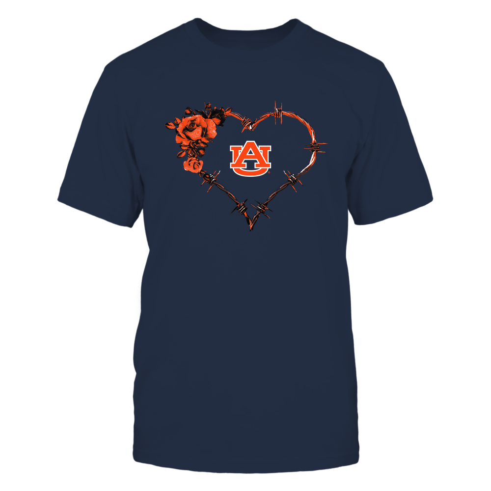 Auburn Tigers - Bared Wire Heart Rose Front picture