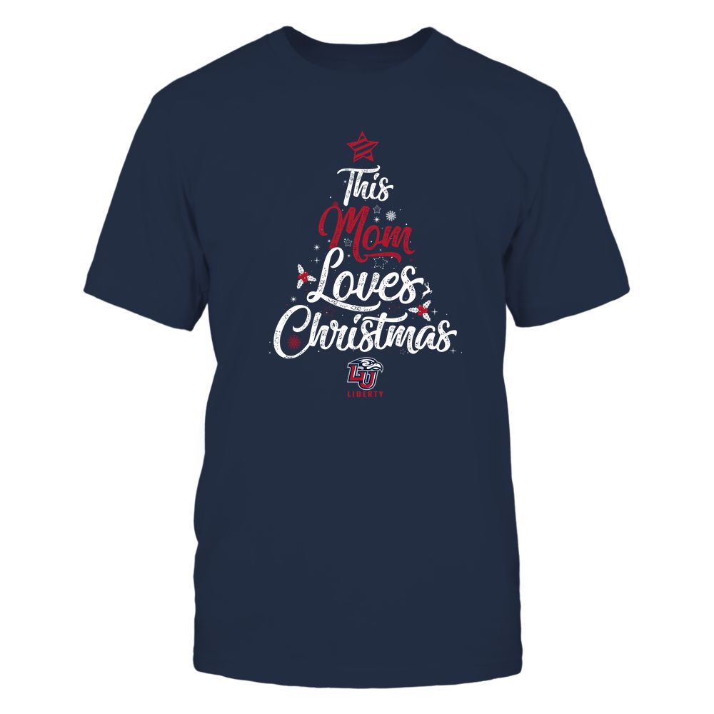 """Liberty Flames - This """"Mom"""" Loves Christmas Front picture"""