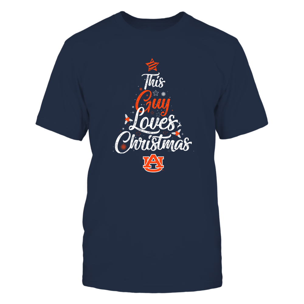"""Auburn Tigers - This """"Guy"""" Loves Christmas Front picture"""