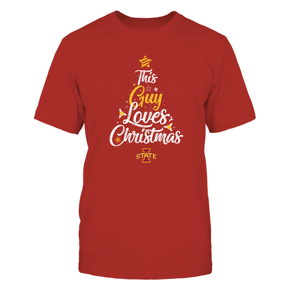 """Iowa State Cyclones - This """"Guy"""" Loves Christmas Front picture"""