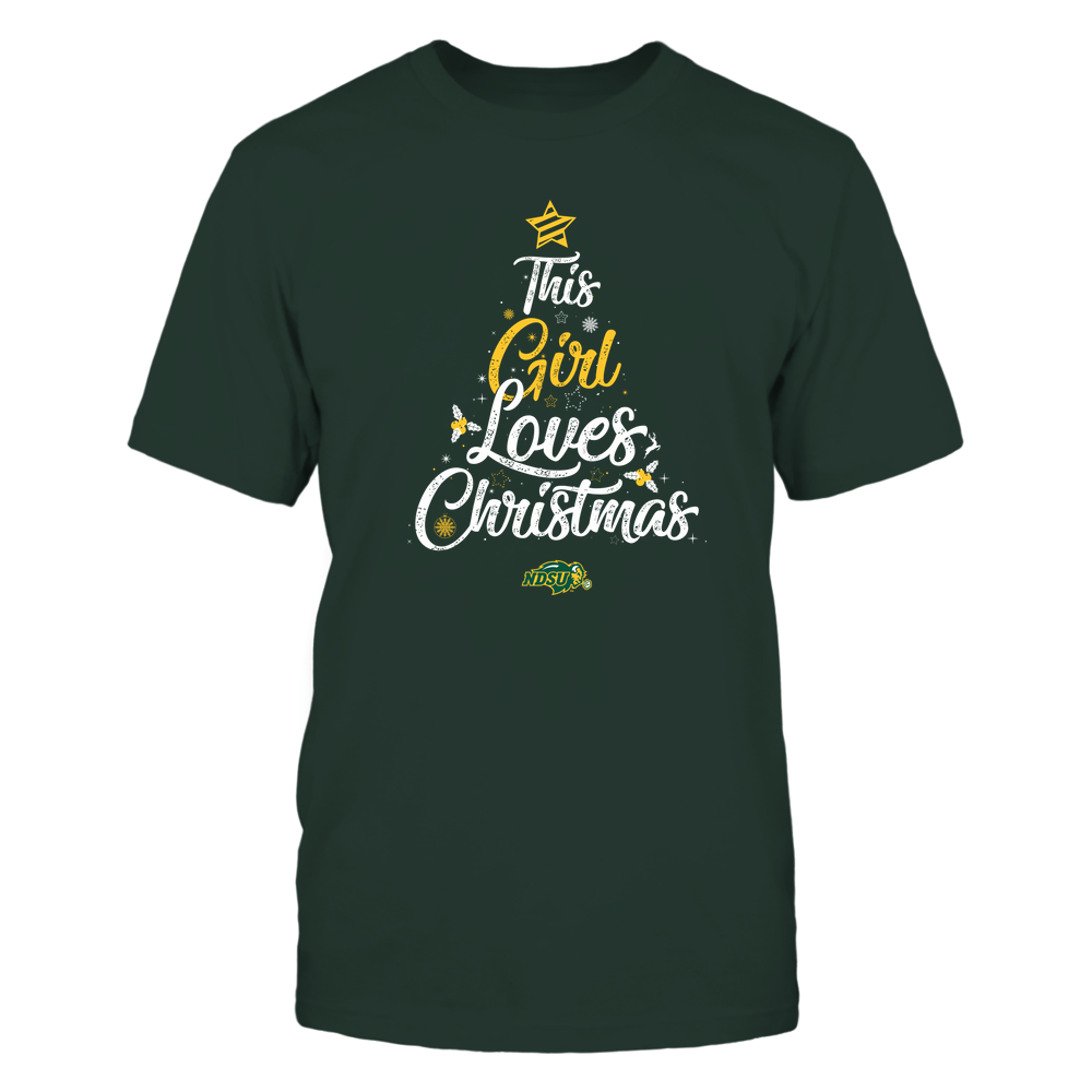 """North Dakota State Bison - This """"Girl"""" Loves Christmas Front picture"""