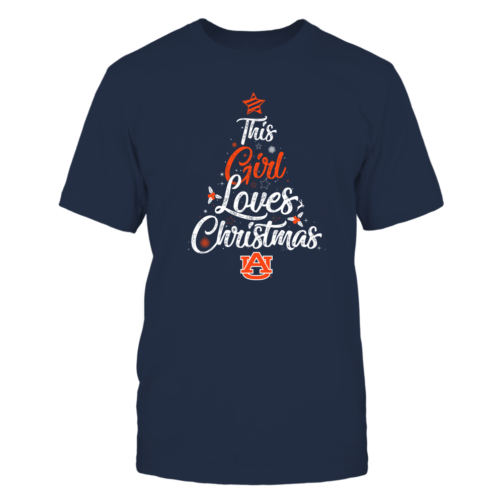 """Auburn Tigers - This """"Girl"""" Loves Christmas Front picture"""