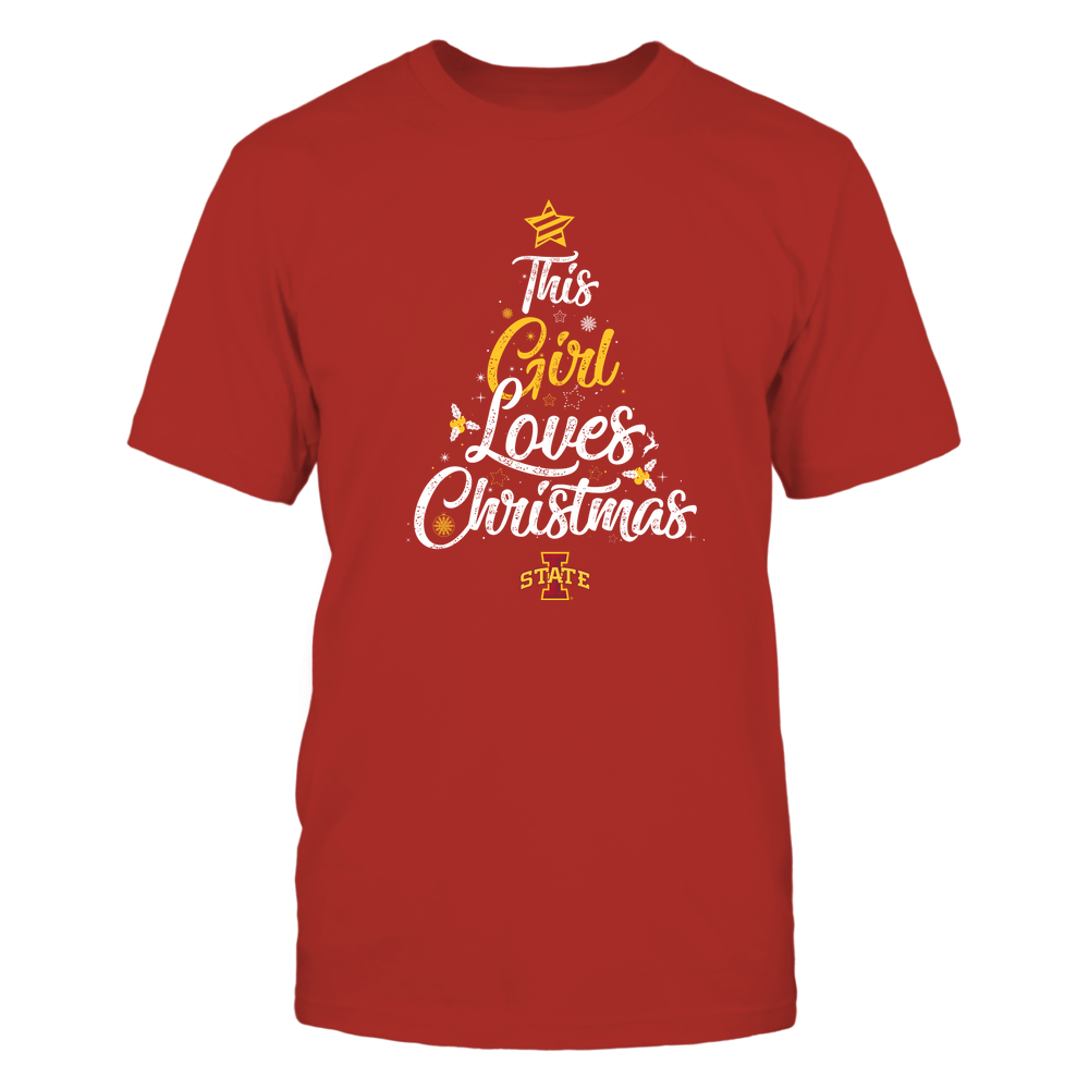 """Iowa State Cyclones - This """"Girl"""" Loves Christmas Front picture"""