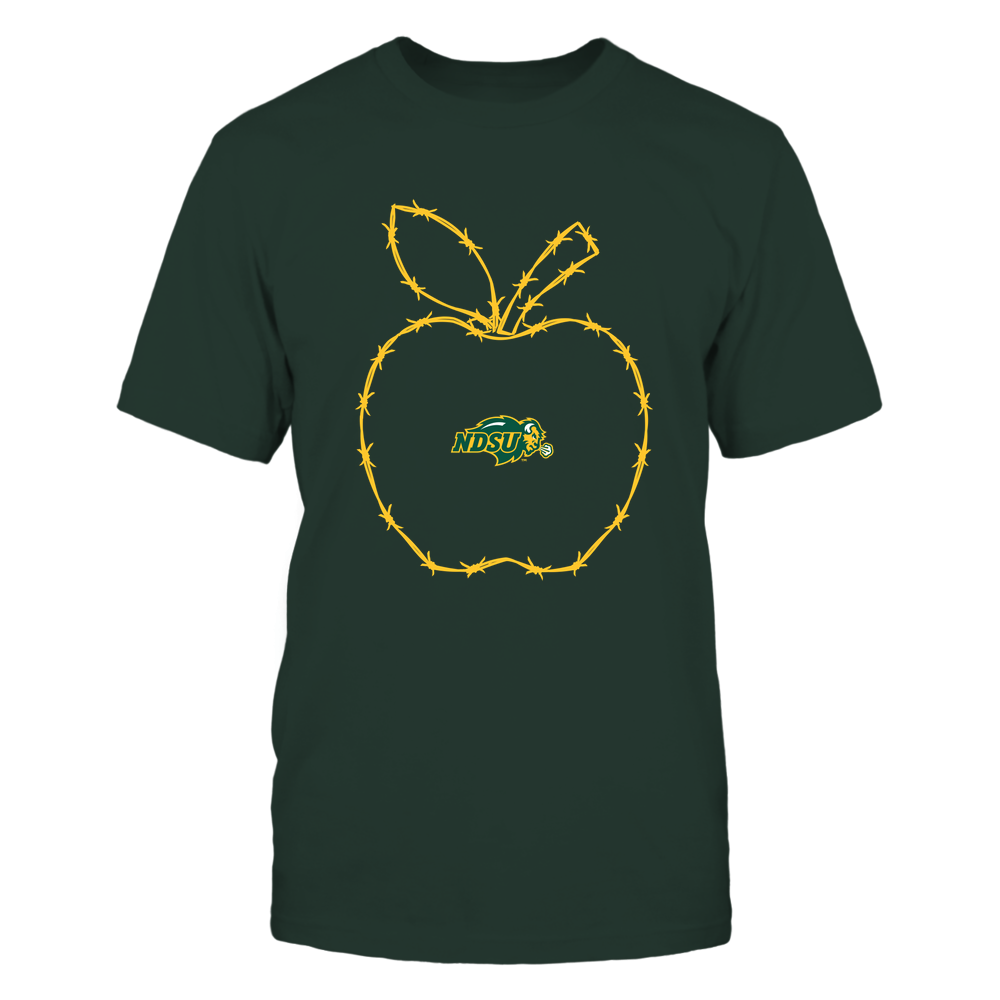 North Dakota State Bison - Barbed Wire Apple Front picture