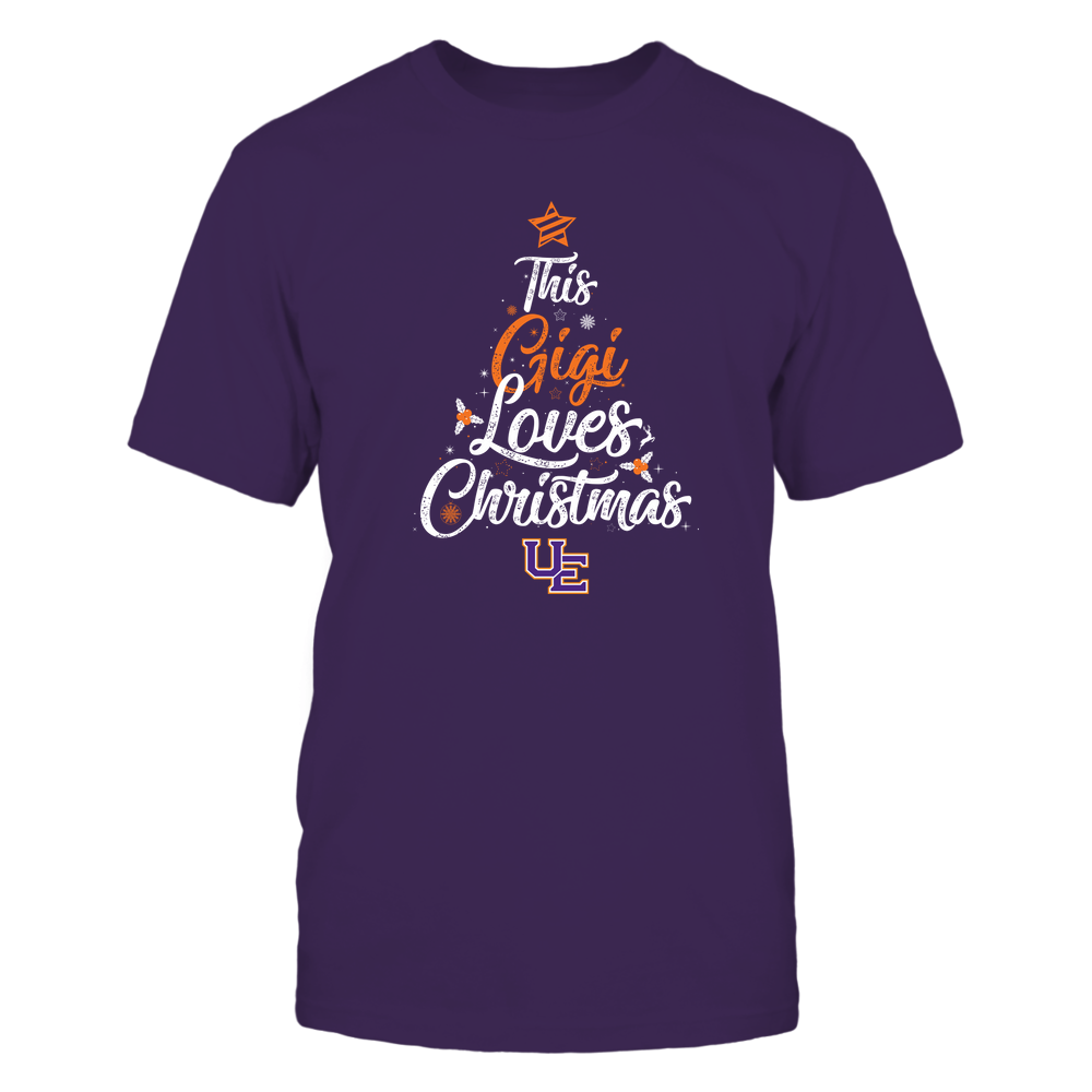 """Evansville Purple Aces - This """"Gigi"""" Loves Christmas Front picture"""