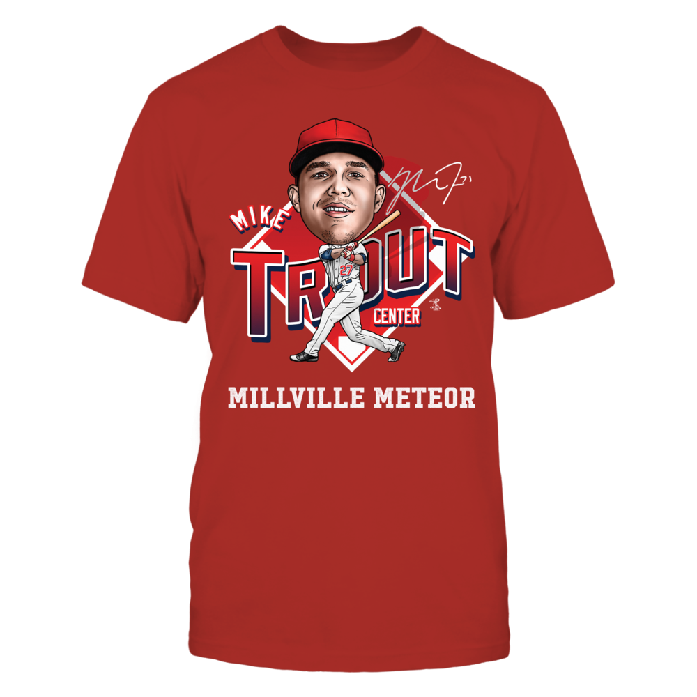 Mike Trout - Millville Meteror Front picture