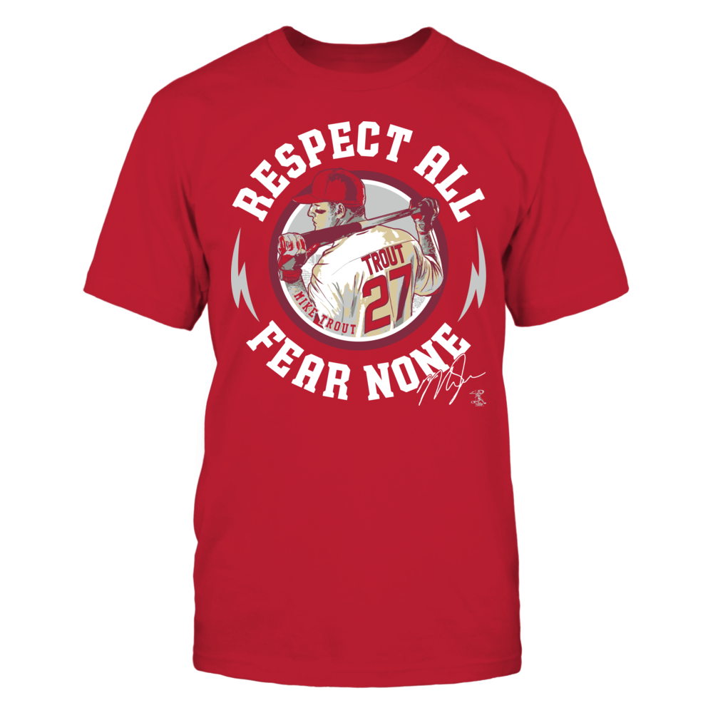 Mike Trout - Respect All Fear None Front picture