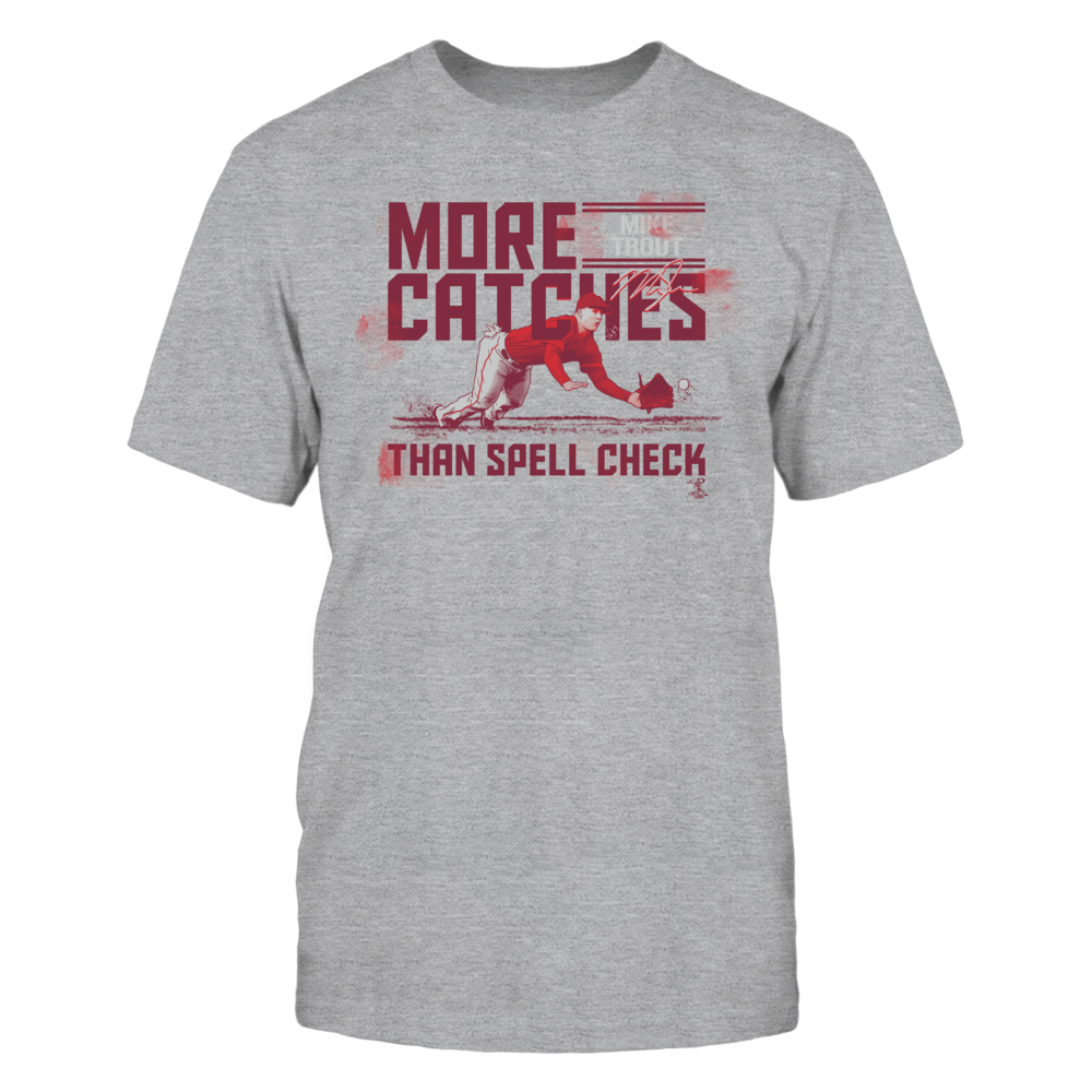 Mike Trout - More Catches Than Spell Check Front picture