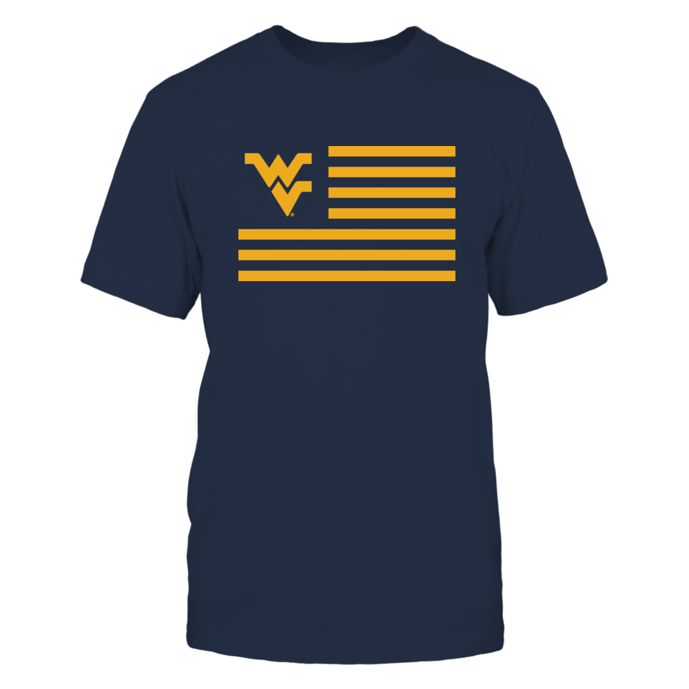 WEST VIRGINIA & STRIPES - WEST VIRGINIA MOUNTAINEERS Front picture