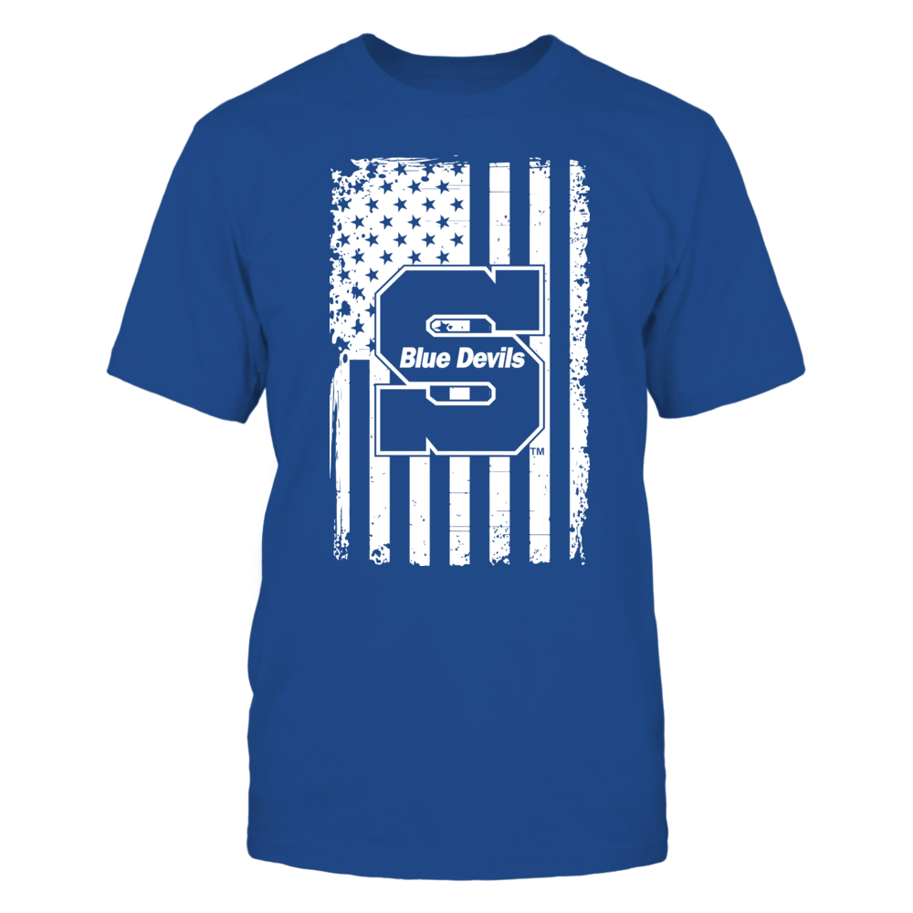 Wisconsin Stout Blue Devils - Flag Pride Front picture