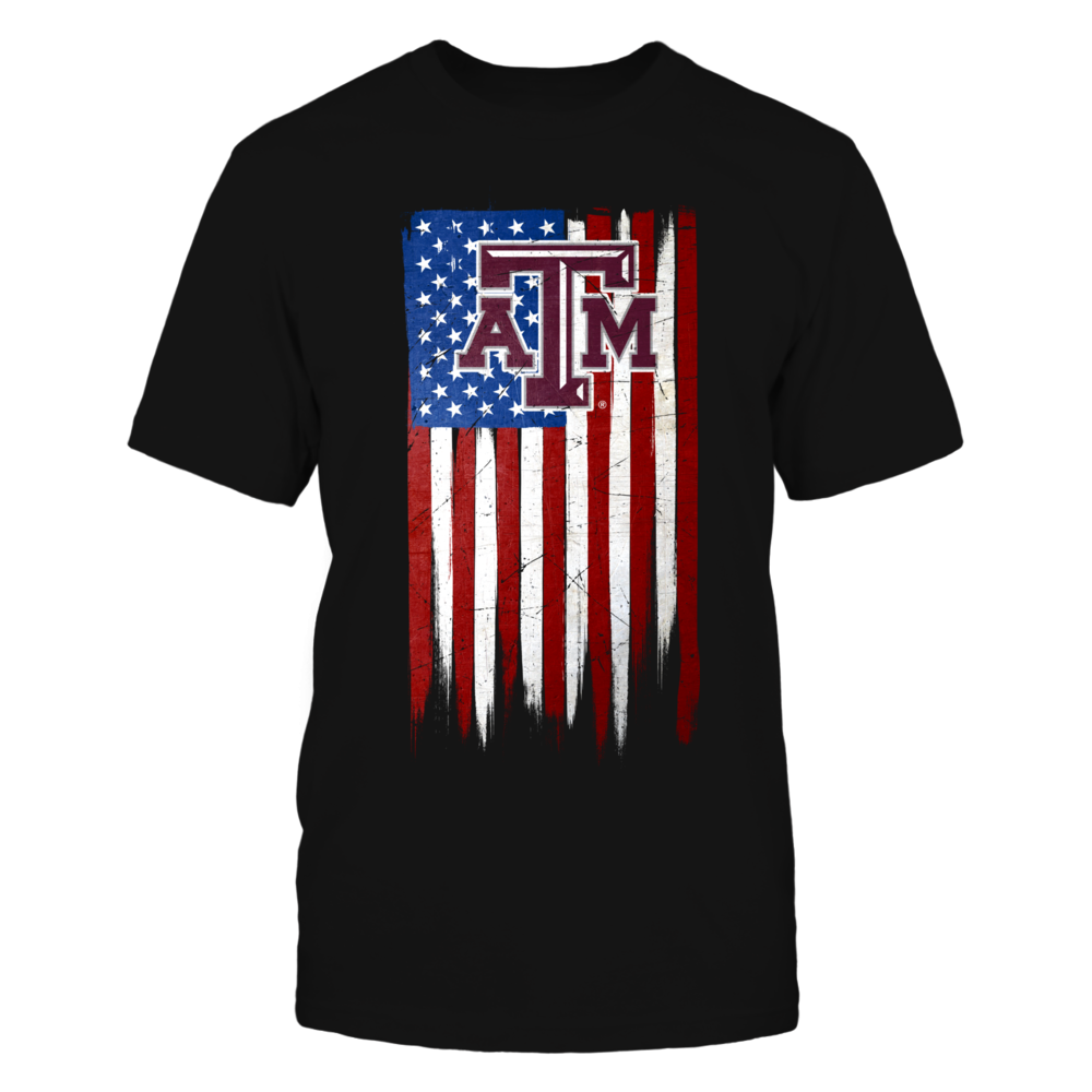 Grunge American Flag - Texas A&M Aggies Front picture