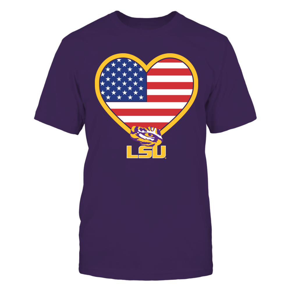 Flag Heart Logo - LSU Tigers Front picture
