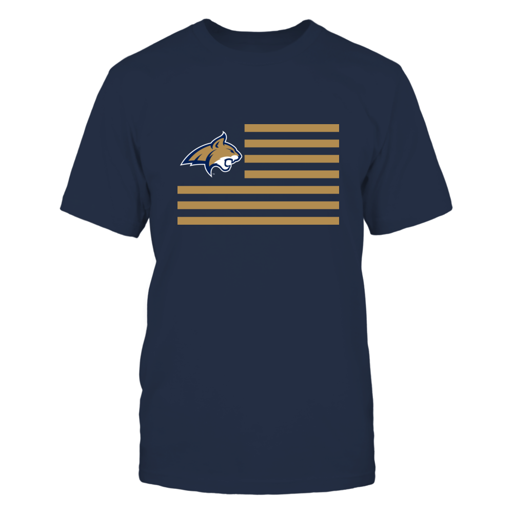 MONTANA STATE & STRIPES - MONTANA STATE BOBCATS Front picture