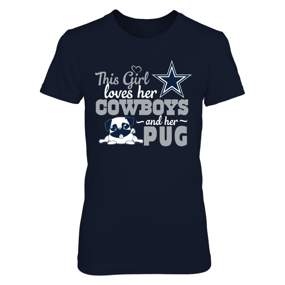 Dallas Cowboys - This Girl lover her PUG Front picture